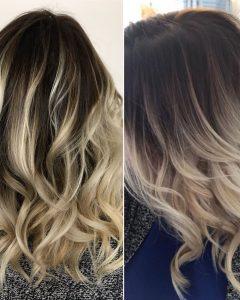 Ash Blonde Lob with Subtle Waves