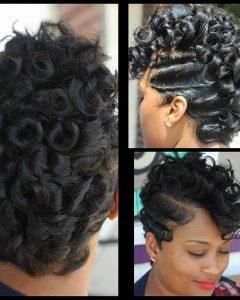 Retro Curls Mohawk Hairstyles