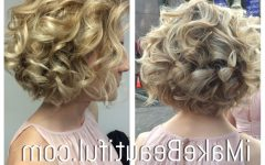 Short Spiral Waves Hairstyles for Brides