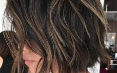 Black and Brown Choppy Bob Hairstyles