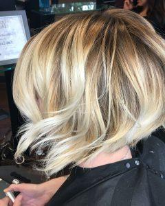 Pearl Blonde Bouncy Waves Hairstyles
