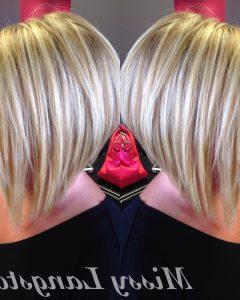 Short Blonde Inverted Bob Haircuts