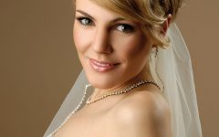 Bridal Hairstyles for Short Length Hair with Veil