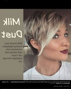 Highlighted Pixie Bob Hairstyles With Long Bangs