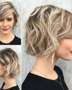 Cute Chopped Bob Hairstyles With Swoopy Bangs