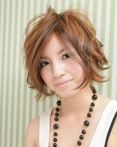 Short Curly Shag Hairstyles For Korean Girls