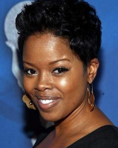 Black Short Haircuts for Round Faces