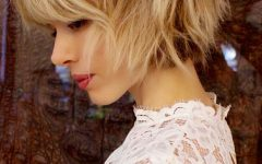 Shaggy Blonde Bob Hairstyles with Bangs