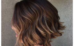 Short Textured Hairstyles with Balayage