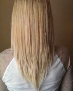 Short Bob Hairstyles with Long V-cut Layers