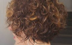 Short Loose Curls Hairstyles with Subtle Ashy Highlights