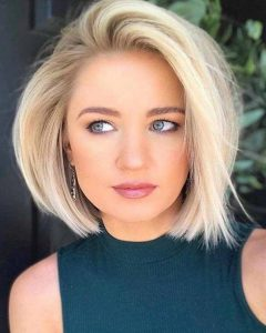 Glam Blonde Bob Haircuts