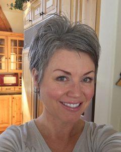 Short Shaggy Hairstyles For Grey Hair