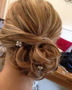 Curly Side Bun Wedding Hairstyles