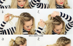 Flowy Side Braid Ponytail Hairstyles