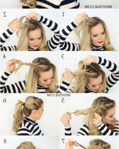 Flowy Side Braid Ponytail Hairstyles