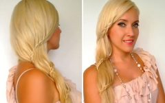 Side Swept Carousel Braid Hairstyles