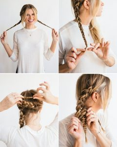 Easy Casual Braided Updo Hairstyles