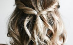Simple Halfdo Wedding Hairstyles for Short Hair