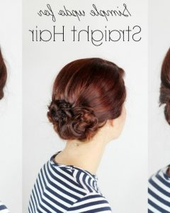 Updo Hairstyles For Straight Hair