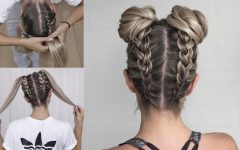 Upside Down French Braids into a Bun