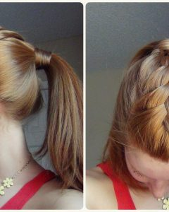 French Braid Hairstyles With Ponytail