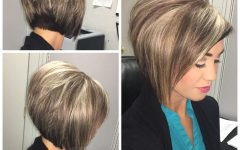 Stacked Bob Hairstyles with Highlights