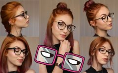 Medium Hairstyles for Girls with Glasses