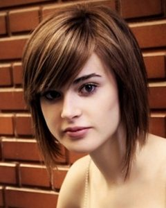 Rounded Bob Hairstyles With Side Bangs