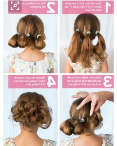Updo Hairstyles For Little Girl With Short Hair