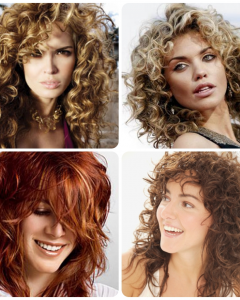 Short Curly Shaggy Hairstyles