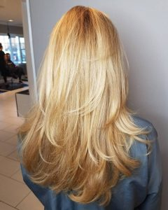Long Feathered Layers For U-Shaped Haircuts