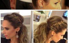 Stylish Low Pony Hairstyles with Bump
