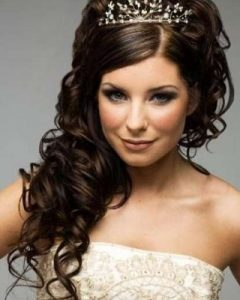 Wedding Hairstyles For Long Hair With Crown