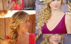 Side-swept Curly Ponytail Hairstyles