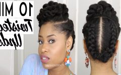 Natural Twist Updo Hairstyles