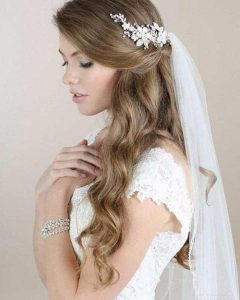 Long Hairstyles Veils Wedding