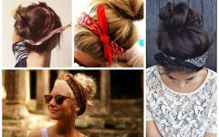 Medium Hairstyles with Bandanas