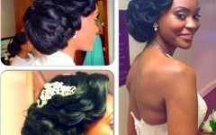Wedding Hair for Black Bridesmaids