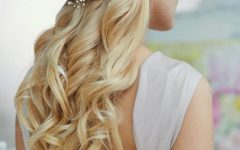 Bumped Twist Half Updo Bridal Hairstyles