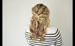Twisted and Pinned Half Up Wedding Hairstyles