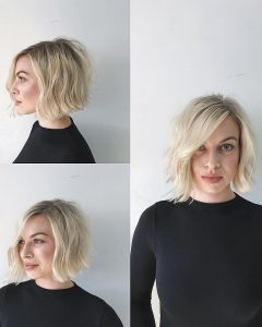 Textured Bob With Side Part Hairstyles