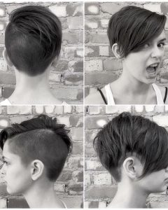 Disconnected Pixie Haircuts With An Undercut
