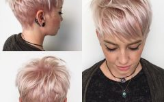 Platinum Blonde Disheveled Pixie Hairstyles