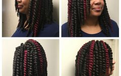 Two-Tone Twists Hairstyles With Beads