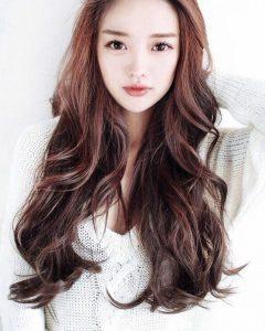 Long Layered Hairstyles Korean
