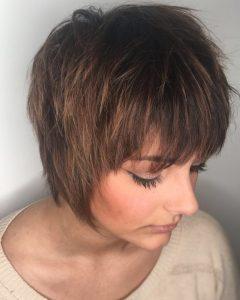 Short Shag Blunt Haircuts