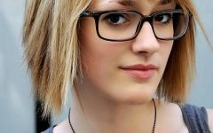 Short Haircuts With Bangs And Glasses
