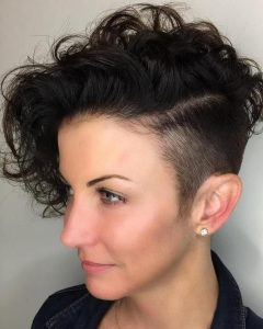 Asymmetrical Curly Ponytail Hairstyles