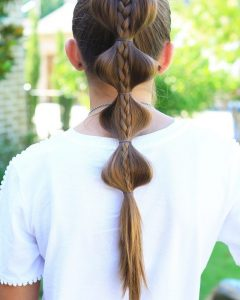 French Braid Ponytail Hairstyles with Bubbles